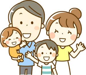 4人家族イラスト