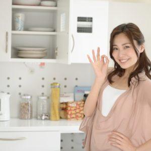 主婦とキッチン