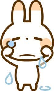 泣くウサギ