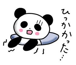 ひっかかったパンダ
