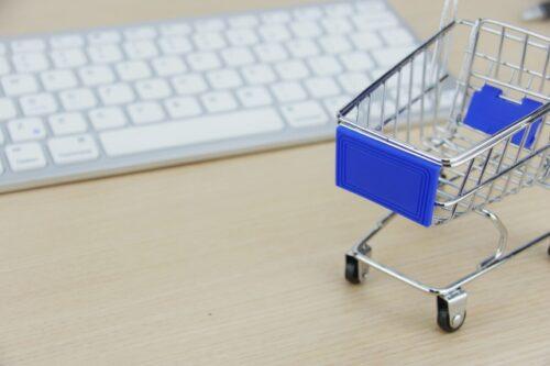 キーバードとショッピングカート